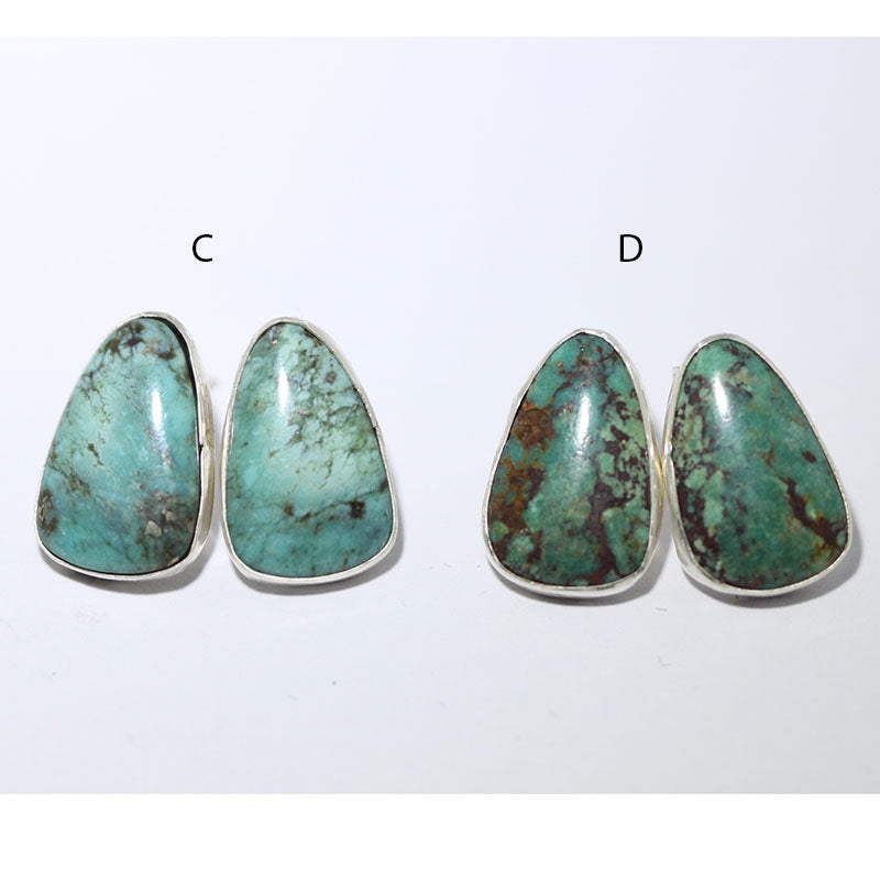 Stabilized Chinese Turquoise Post