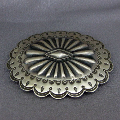 Sterling Silver Belt Buckle by Arnold Goodluck