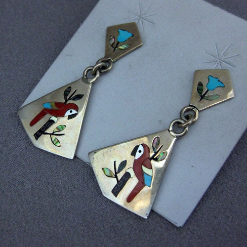 Zuni Inlay Earring