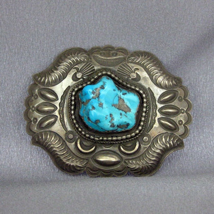 Sterling Silver Turquoise Buckle
