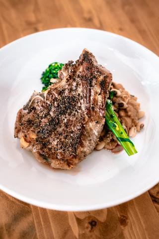 7 Cellars by John Elway - Lamb Shoulder Chops with Black Eyed Peas Broccoli Rabé and Balsamic Vinegar: Recipe by Chef Goose Sorensen