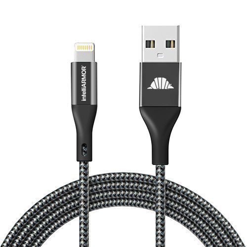 Premium Braided Lightning cable for Apple - Charge Sync, Dual Shielded Premium Quality, 3.3 Feet, Black