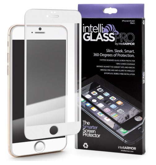 intelliGLASS AR - Apple iPhone 6/6S PLUS - White/Gold