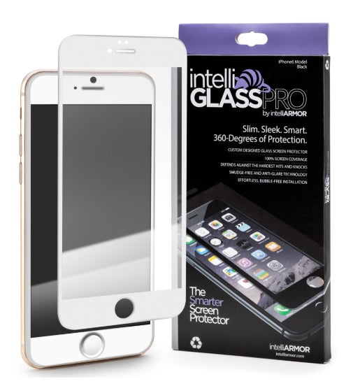 intelliGLASS PRO - Apple iPhone 6/6S (EDGE-TO-EDGE) - White/Gold