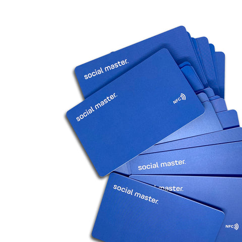 Digital business card Social Master 2021 virtual business card for social media sharing and networking