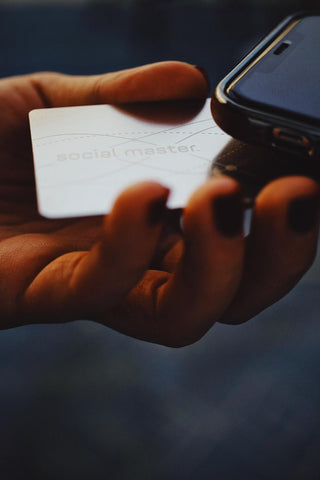 Social Master digital business card social distancing stay connected during covid networking digital business card