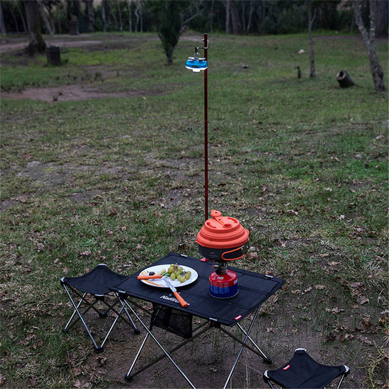 Traveling Naturehike Folding Lamp Pole for Camping Table Lantern Stand Portable Lightweight Aluminum Alloy Lantern Pile Driver for Outdoor Backpacking Hiking BBQ Picnic Fishing