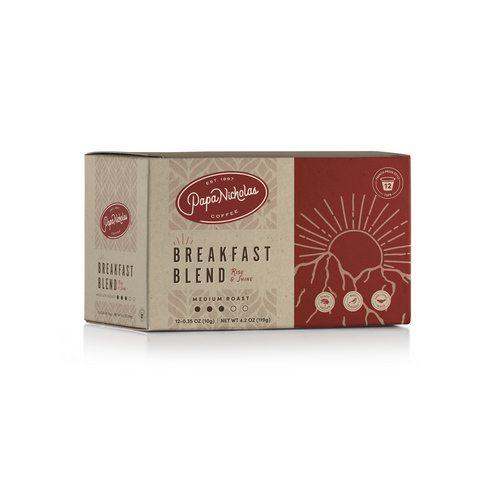 12 Count, Breakfast Blend Single Serve Cups