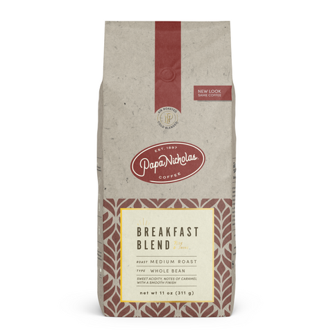 Whole Bean, 11 Ounce Breakfast Blend