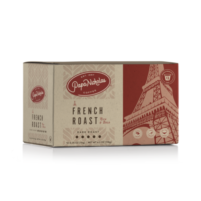 12 Count, French Roast Single Serve Cups