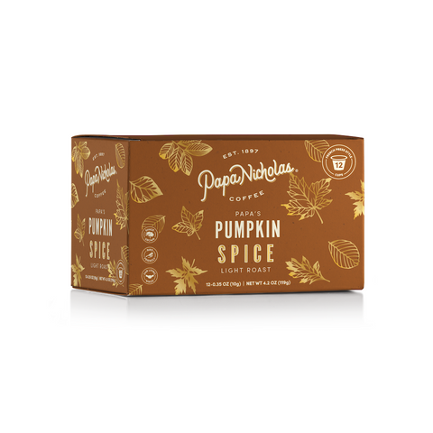 12 Count, Papa's Pumpkin Spice Single Serve Cups