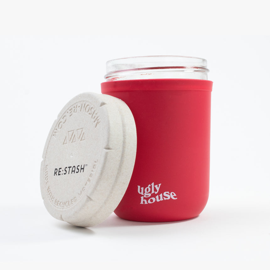 8 oz. Restash Jar- Red