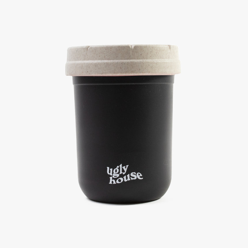 8 oz. Restash Jar- Black/White Lid