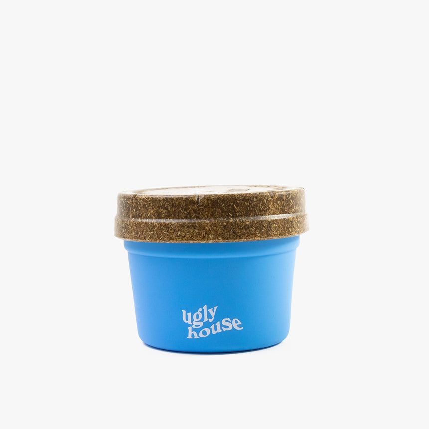 4 oz. Restash Jar- Light Blue/Brown Lid