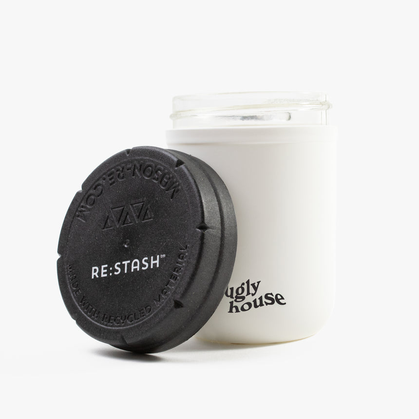 8 oz. Restash Jar- White