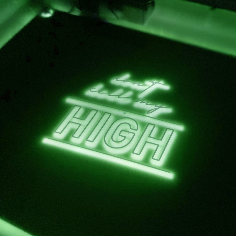LED Rolling Tray Don't Kill My High- Green