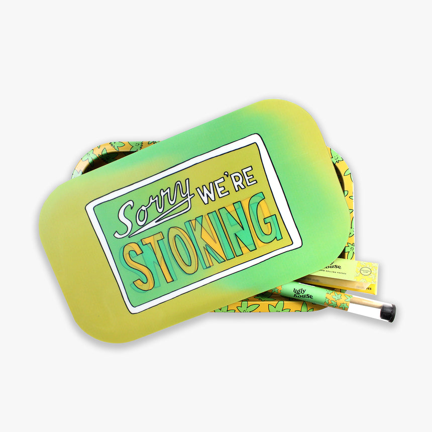 Holographic Rolling Tray Bundle — Sorry Stoned (6pc)