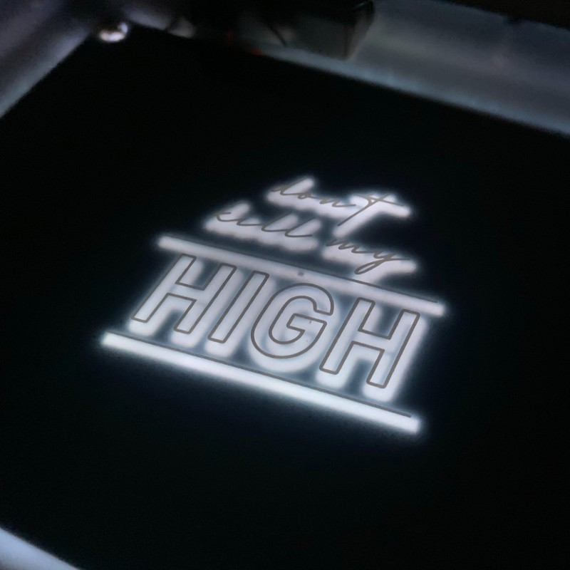 LED Rolling Tray Don't Kill My High- White