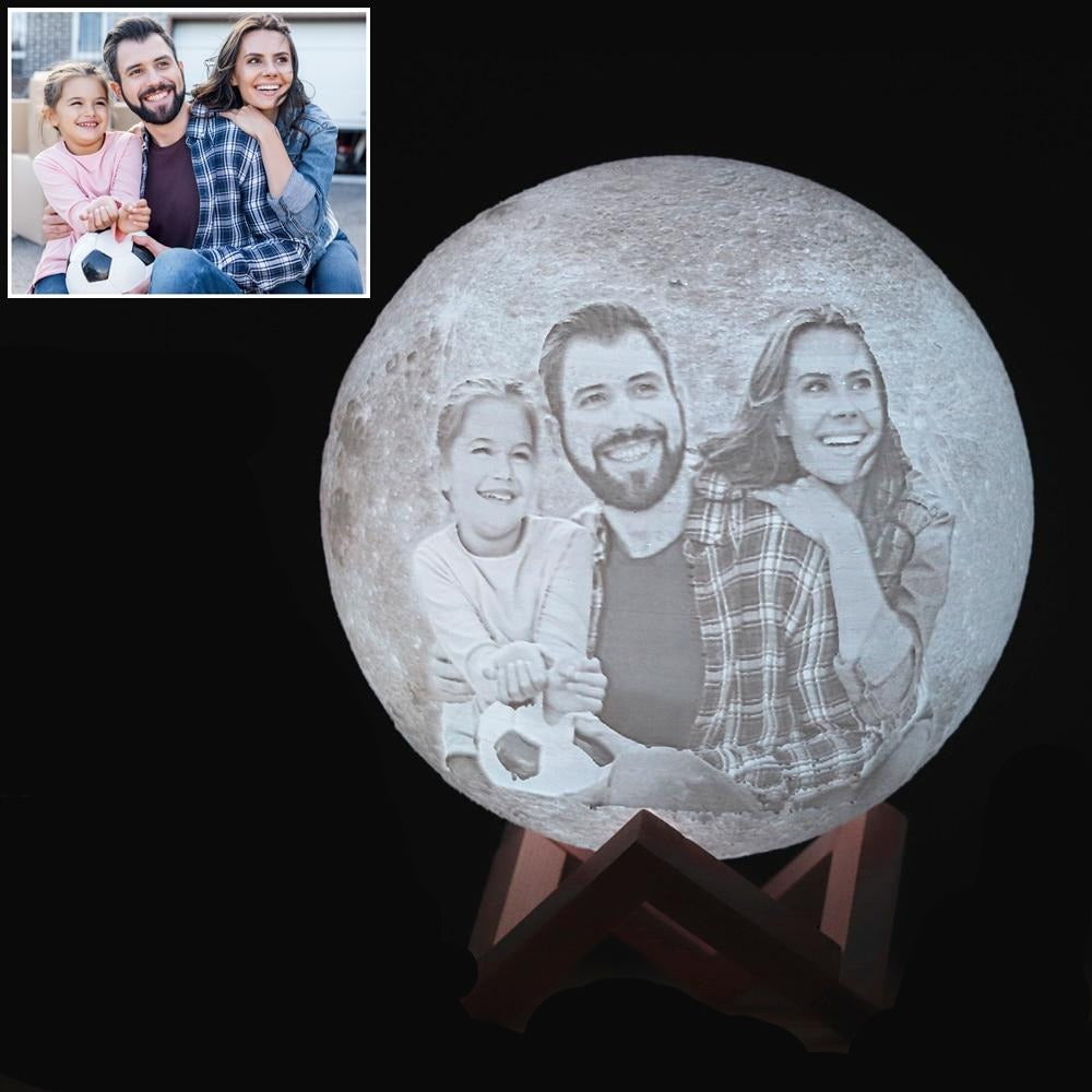 Custom 3D Printing Moon Lamp - https://www.portraitsz.com/