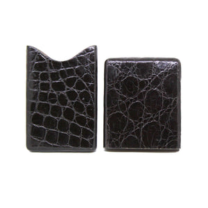 Florentine Artisan speciality: cardholder in stichingless piton or caiman alligator leather - CITES certified