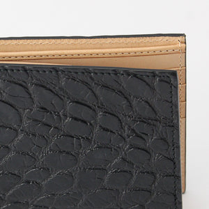 American Alligator Wallet for extra large bills - CITES certified