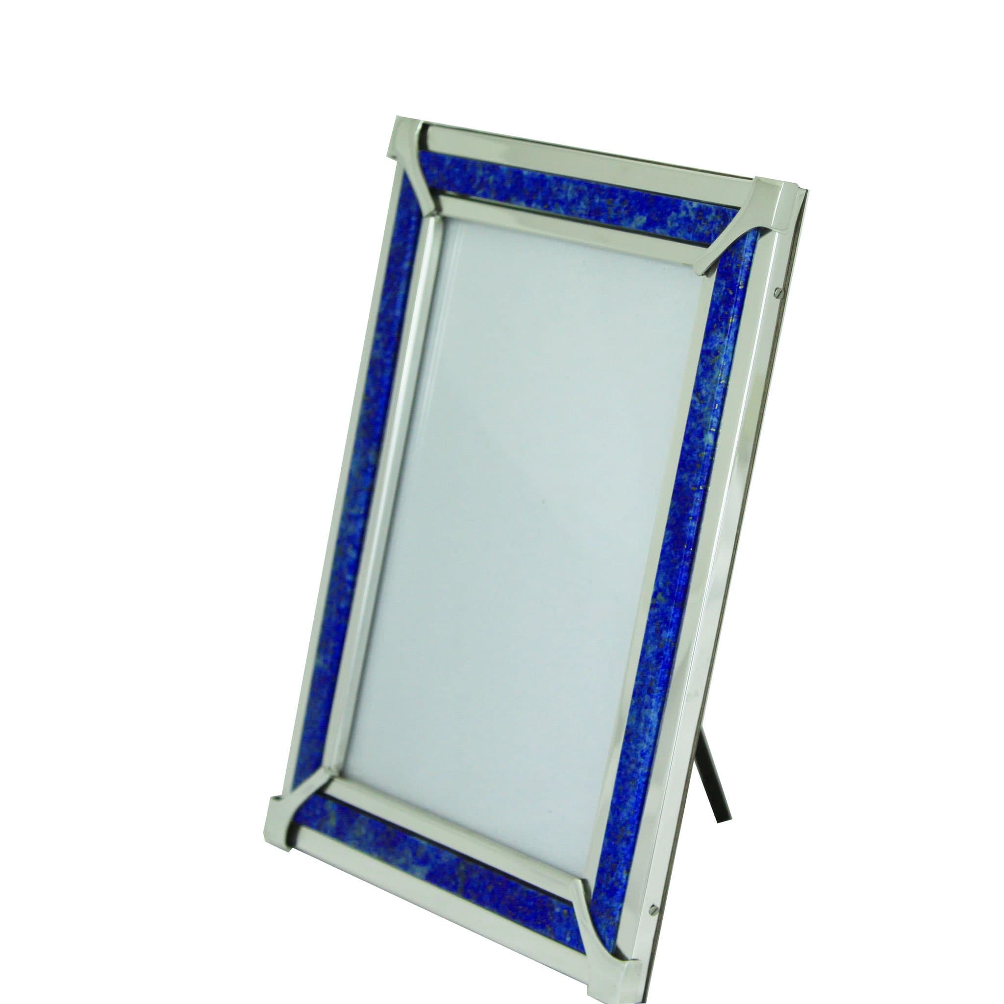 Lapis Lazuli and sterling silver picture frame [Sterling Silver 925 - Made just for you]