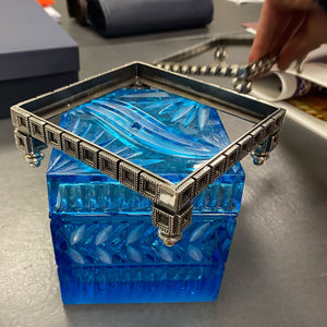Blue Cube Box Crystal
