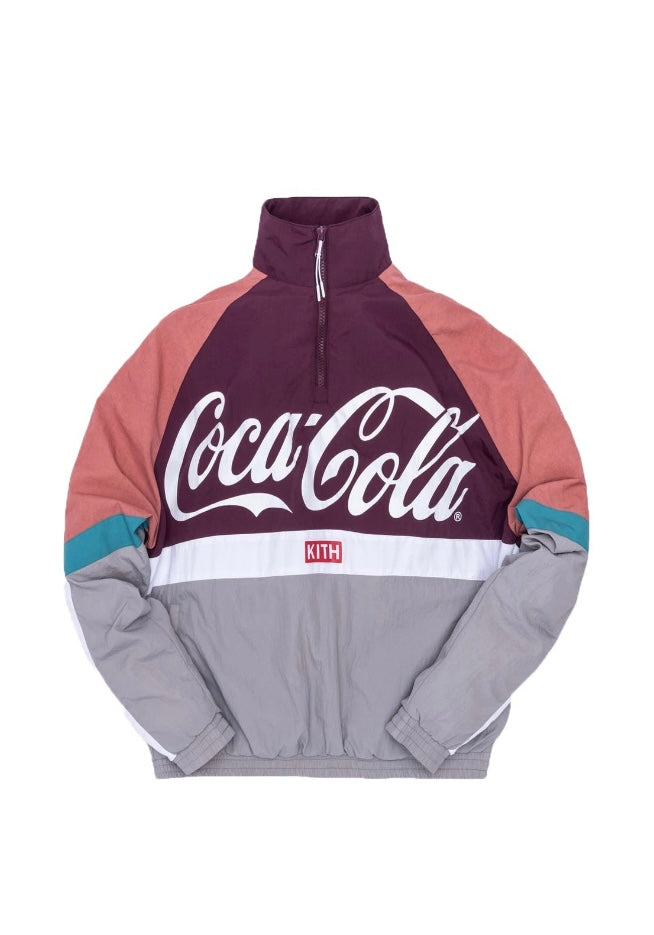 Kith x Coca-Cola Quarter Zip Nylon Windbreaker