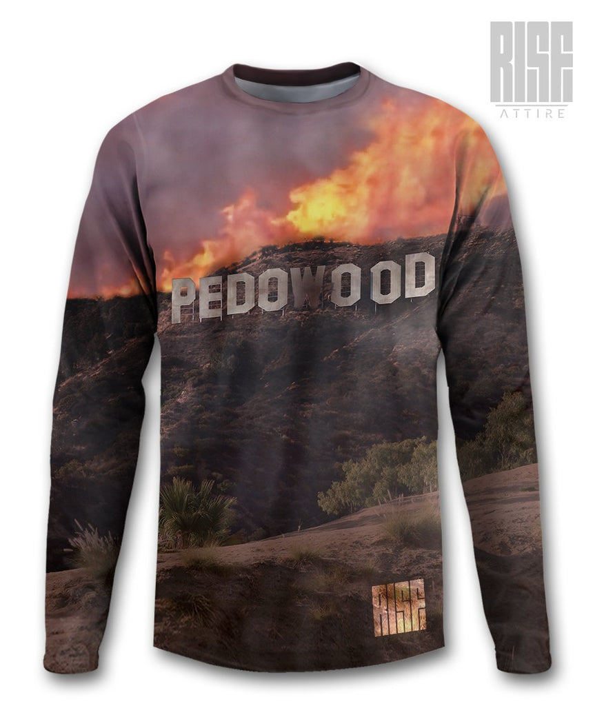 Pedowood Burning Long Sleeve Tee - Rise Attire