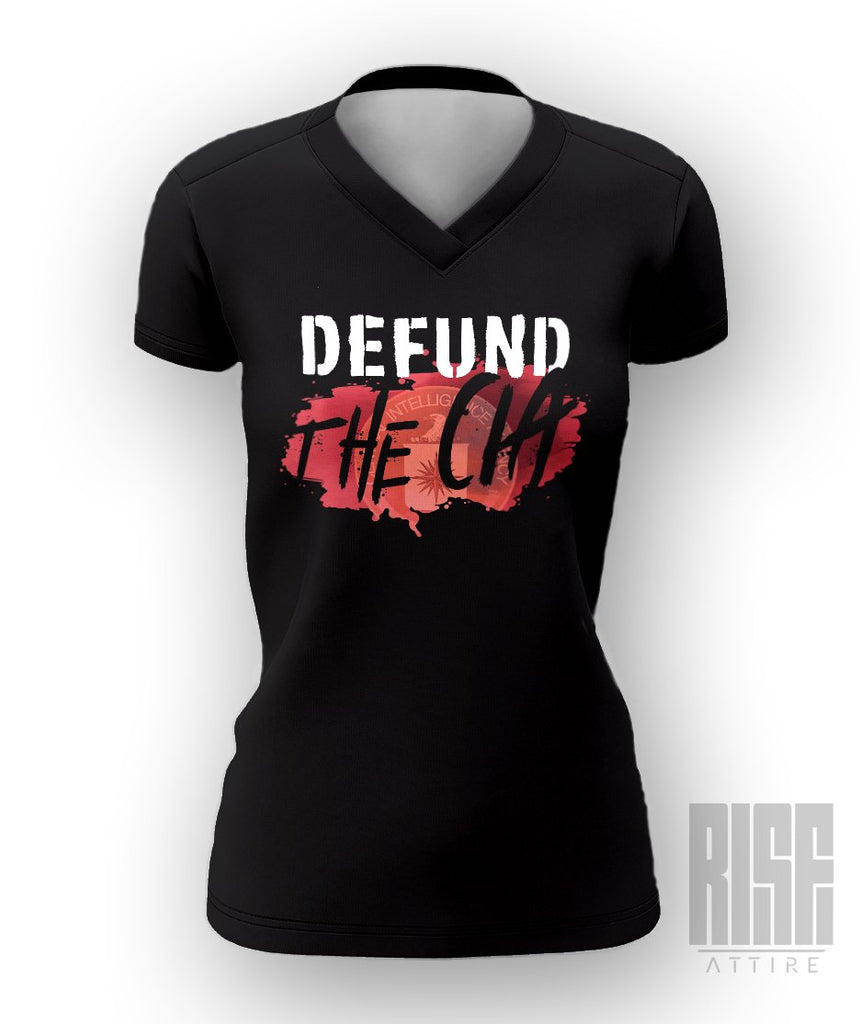Defund the C_A Womens V-Neck Tee - Rise Attire