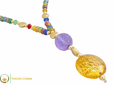 Cheri Pendant Necklace - Multicoloured - Venetian Charms  - 1