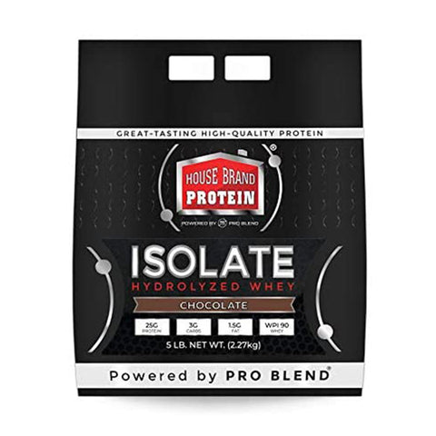HOUSE BRAND HYDROLYZED ISOLATE PROTEIN, 5LBS CHOCOLATE