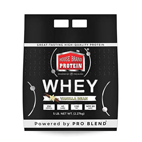 5 LBS HOUSE BRAND WHEY PROTEIN POWDER, VANILLA BEAN