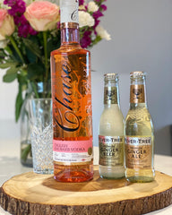 Chase Rhubarb Vodka and Fever Tree Ginger Beer