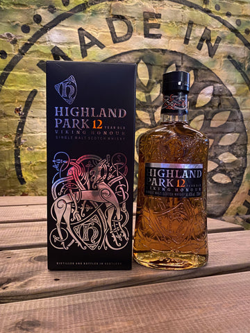Highland Park 12 Year Old Viking Honor Single Malt Scotch Whisky 70cl Whisky Highland Park