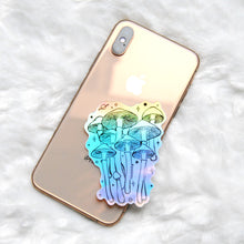 Load image into Gallery viewer, Holographic Shroom Galaxy Sticker