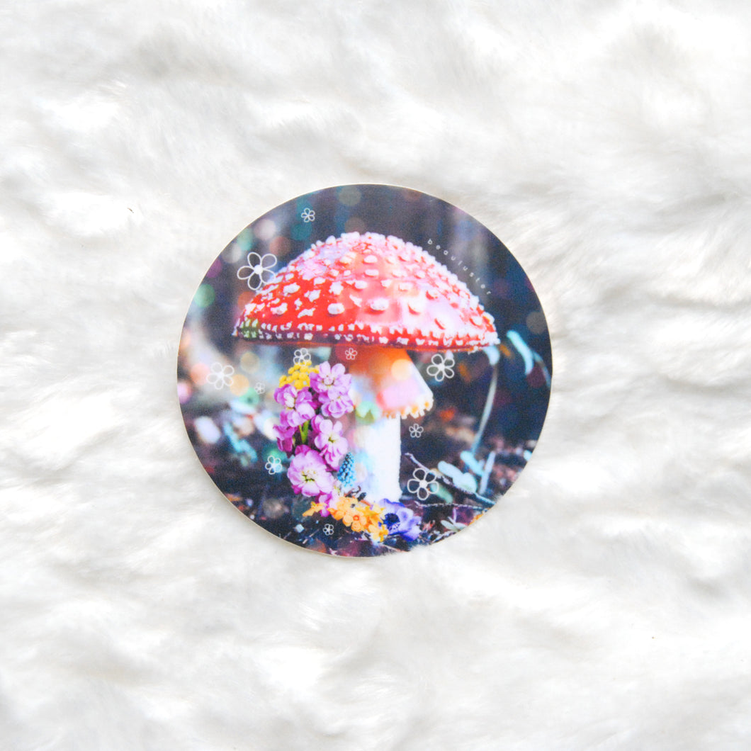 Mushroom Shrine Sticker