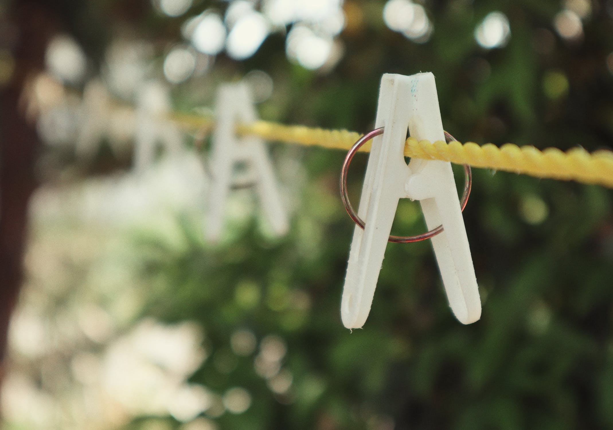 Candle Subscription Box Preview - Washing Line With Pegs