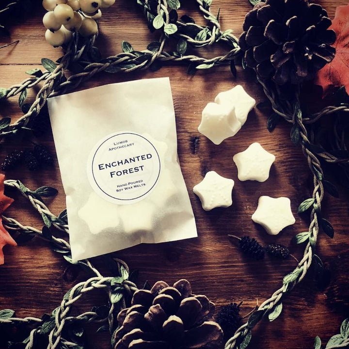 Enchanted Forest Scented Soy Wax Melts In Waxed Bag - Lumos Apothecary. Soy Wax Candles UK