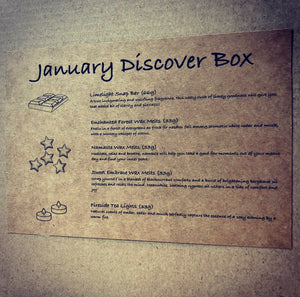 January Discover Subscription Box Description
