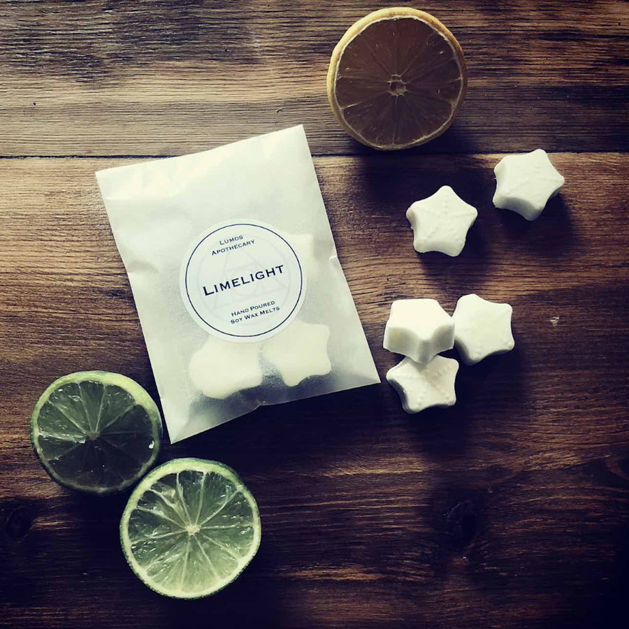 Limelight Scented Soy Wax Melts In Waxed Bag - Lumos Apothecary. Soy Wax Candles UK