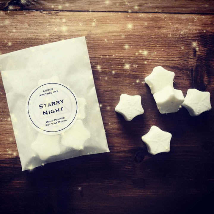 Starry Night Scented Soy Wax Melts In Waxed Bag - Lumos Apothecary. Soy Wax Candles UK