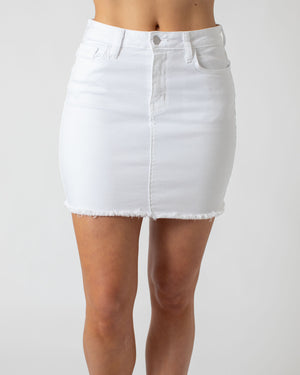 Load image into Gallery viewer, White Denim Skirt