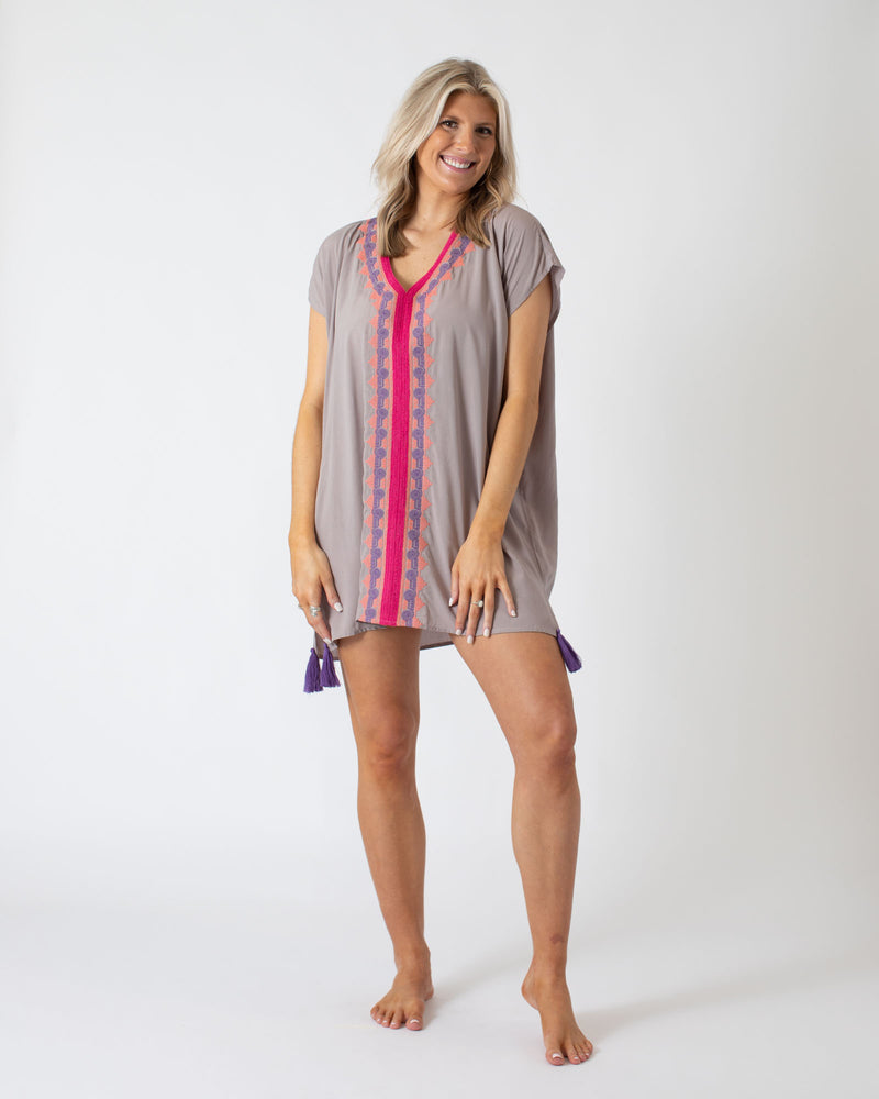 Grey V-Neck Multi Coverup