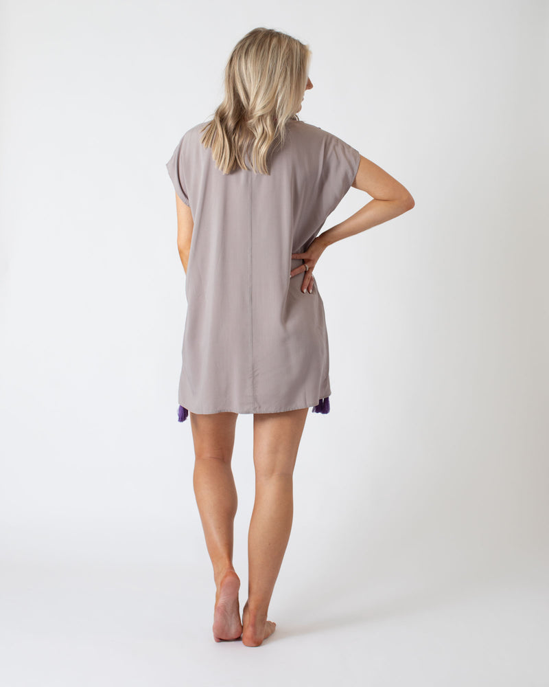 Load image into Gallery viewer, Grey V-Neck Multi Coverup