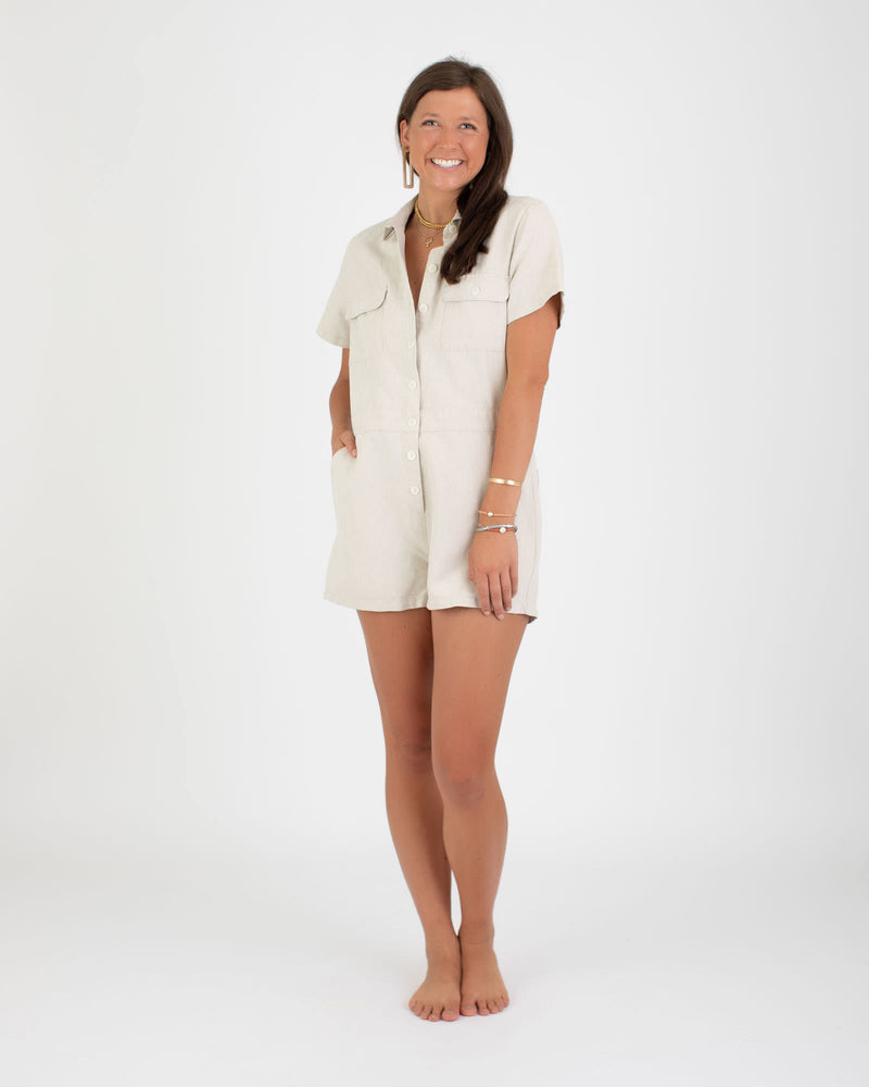 Sea Suit Shortall in Natural