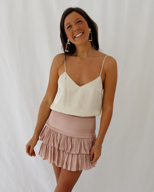Load image into Gallery viewer, Silky Cropped Tank in Cream