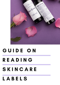 GUIDE ON READING SKINCARE LABELS