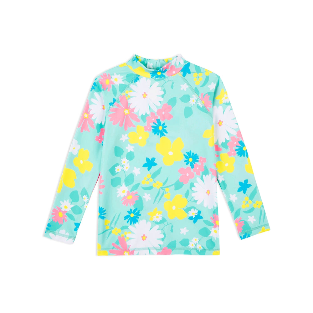 Kids Long Sleeve Swim Rashie - Multi in Bloom