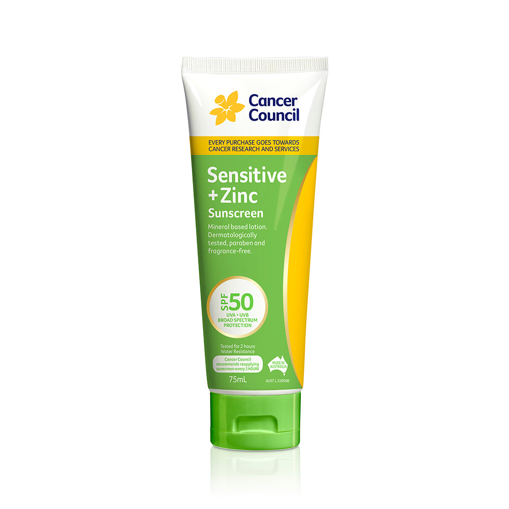 Sensitive + Zinc Sunscreen SPF50+ 75ml